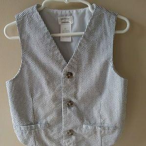 Gymboree Seersucker Vest Toddler Boy (4T)